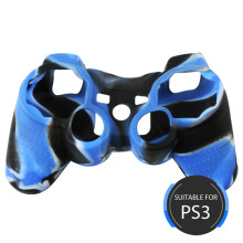 Silicon controller cover for PS3 blue-black cover