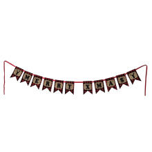 China for Artificial Christmas Garland Scottish style Christmas burlap bunting export to Spain Manufacturers