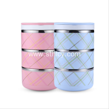 Multi Layer Heat Perservation Stainless Steel Lunch Box