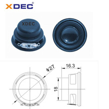 Hot Sale for Mini Lamp Speaker 27mm 4ohm 2watt multimedia mini speaker unit export to Cuba Manufacturer