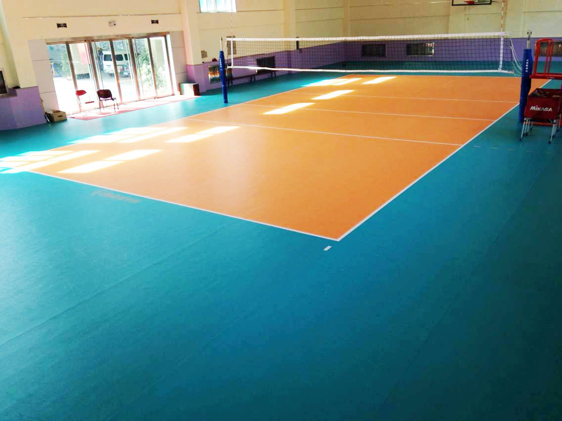 indoor volleyball flooring