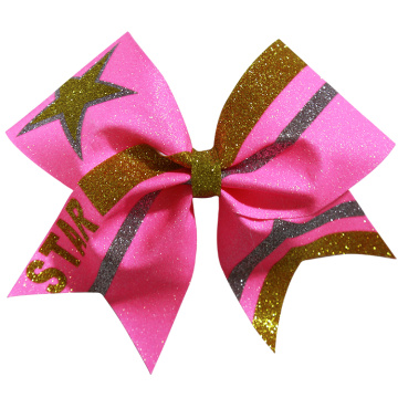 Striped College Girls Cheerleading Bows
