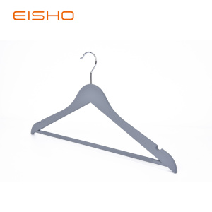 Wood-like Plastic Suit Hangers With Open Bottom WPP003