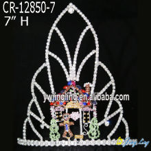 Cheap PriceList for China Christmas Snowflake Round Crowns, Candy Pageant Crowns, Party Hats. Christmas Crown Holiday Hair Tiara export to Solomon Islands Factory