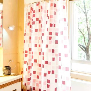 Personlized Products for Shower Curtain Peva Shower Curtain PEVA Burgundy Pattern supply to Pakistan Factories