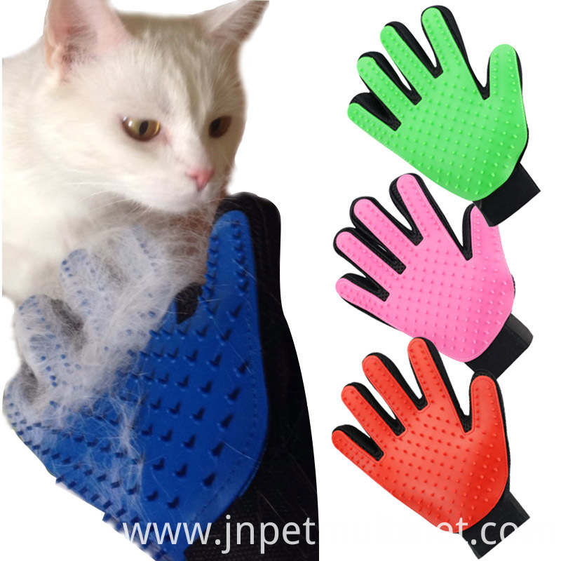 Deshedding Brush Glove For Animal Cat Supplies Pet Gloves Hair Comb Five Finger Glove For Cat