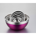 Stainless Steel Colorful Salad Bowl With Cover