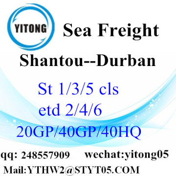 Shantou Sea Freight to Durban