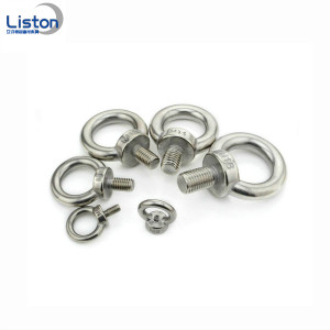 Carbon steel lifting eyebolt for rigging hardware