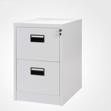 Black Handle 2 Drawer File Cabinet