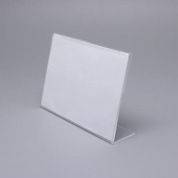 Small Size Clear Acrylic Table Card Stand