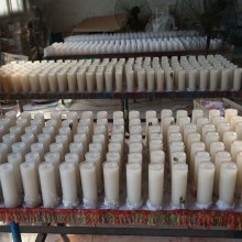 natural white  handmade pillar candle making