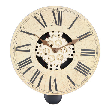 China for Wooden Gear Clock Kits Vintage wooden wall clock with pendulum supply to Poland Suppliers