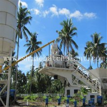Renewable Design for Small Mobile Concrete Plant 20 Construction Portable Concrete Batching Plant supply to Kenya Factory