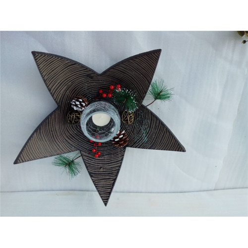 Star Shape MDF Wooden Candle Tray