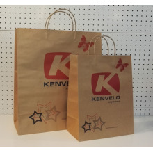 OEM manufacturer custom for Brown Paper Bag With Twisted Handle Brown Kraft Paper Handbags supply to Wallis And Futuna Islands Manufacturers