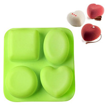 designer oval silicone heart shaped soap molds
