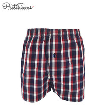Loose fit underwear long boxer shorts for men