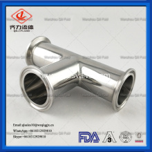 sanitary stainless steel tri-clamp equal tee