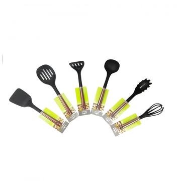 Nylon kitchen whisk with stainless steel handle