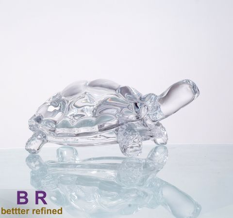 decorative glass tortoise