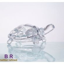 Customized for Glass Statues crystal glass tortoise for home decoration export to Tajikistan Manufacturers