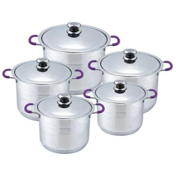 Hot Sale 10pcs wide edge cookware set