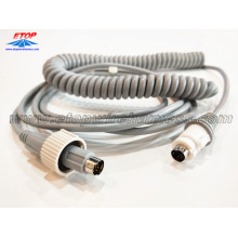 High Quality for Medical Wire Assemblies coiled cable with DIN connectors for medical machine supply to Japan Suppliers