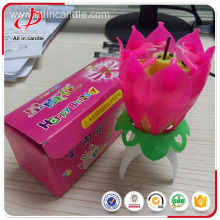 Singing happy birthday music non-rotating flower candle
