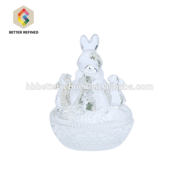 Ceramic Color Rabbit Shaped Decorative Glass Jar