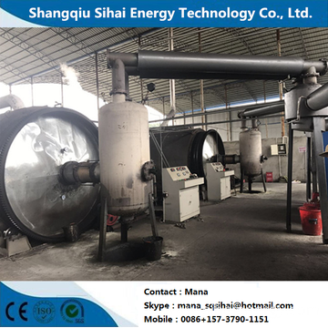 Rubber Processed to Fuel Oil Pyrolysis Plant