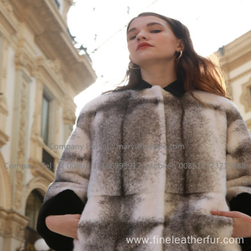 Long Winter Reversible Fur Cross Lady Overcoat