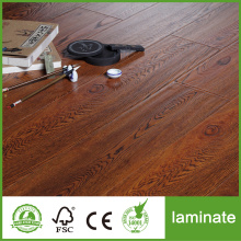 Handscraped HDF AC4 wooden Laminate Flooring 8mm