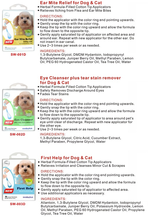 Pet cleaning swab