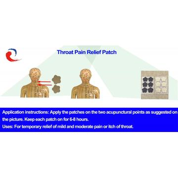Throat pain relief patch(for itchy throat)