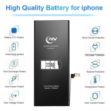 High capacity battery 2200mAh for iPhone 6s
