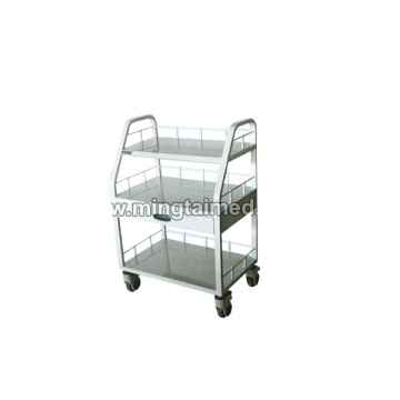 Steel spray instrument cart