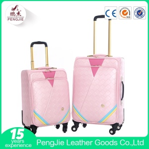 Pink vintage suitcase travel luggage