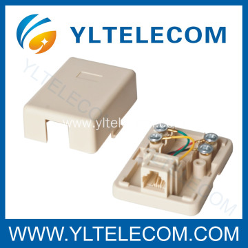 Telephone Surface Mount Box 1Port
