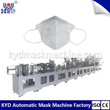 Super high speed disposable 3D folding mask machine