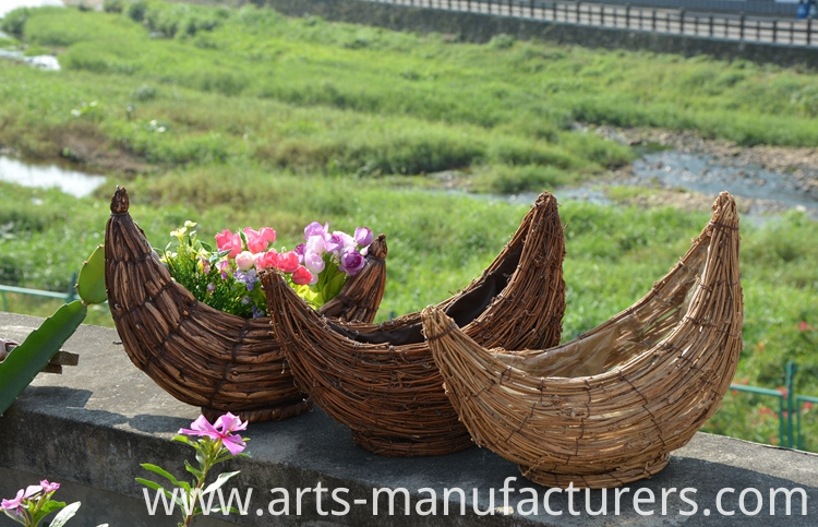 weaving flower pot