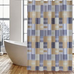 Special Design for Peva Shower Curtain Shower Curtain PEVA Orange Square export to Japan Importers