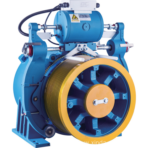 Double Wrap Gearless Elevator Traction Machine With Brake