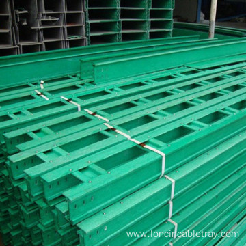 Fireproof Fiberglass Cable Tray with Cover Ladder type