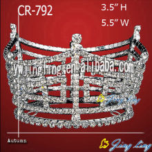 2018 Silver Plated Full Round Pageant Crowns