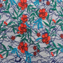 Best quality and factory for Nylon Mesh Embroidery Fabric Colorful Flower Embroidery On Lace Mesh supply to Argentina Suppliers