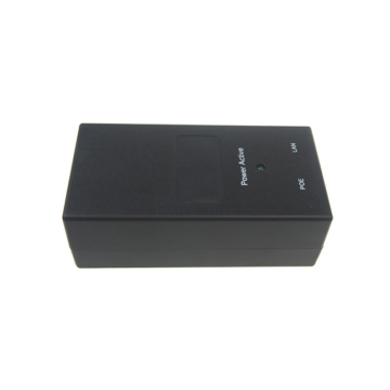 black color 48v 0.5a poe power adapter