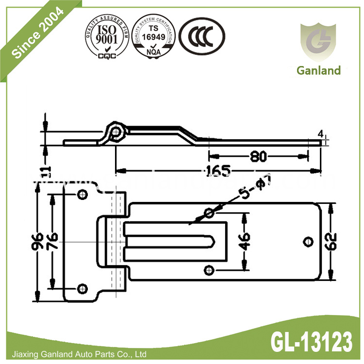 Offset Steel Hinges gl-13123