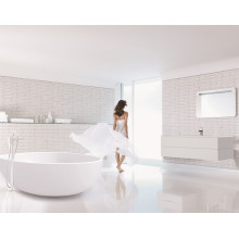 Solid Surface Stone Resin Indoor Oval Freestanding Bath Tub