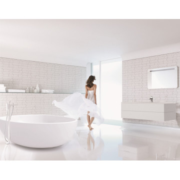 Solid Surface Round Indoor White Acrylic Corner Bath Tub